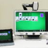 DaVinci low vision video magnifier (CCTV) works with ipads and tablets, for all your favorite apps