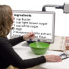 Use your Davinci low vision video magnifier (CCTV) for any task, cooking, crafts, reading, games, projects, etc.