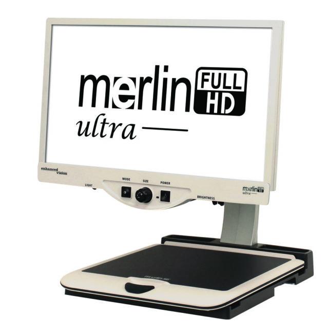 Merlin HD Ultra white screen black text
