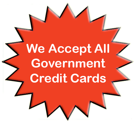 New England Low Vision and Blindness accepts government credit cards for all low vision and blindness products.