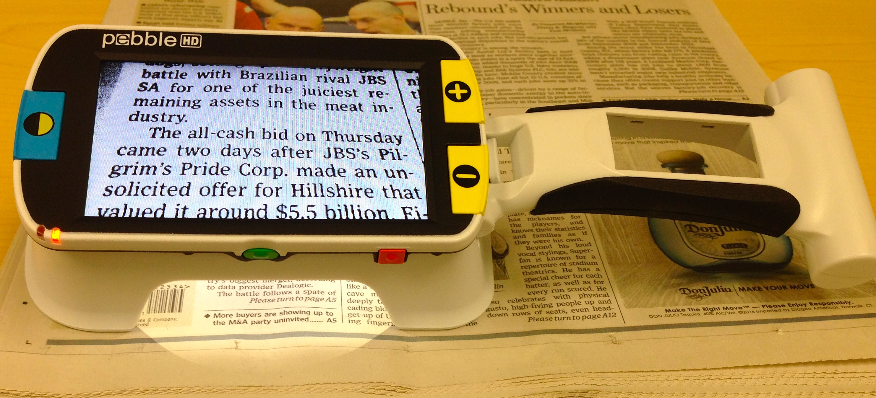 pebble hd with stand low vision video magnifier new england