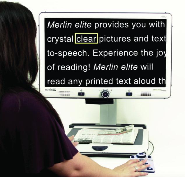 Merlin Elite Desktop Video Magnifier - helps you experience the joy of reading again