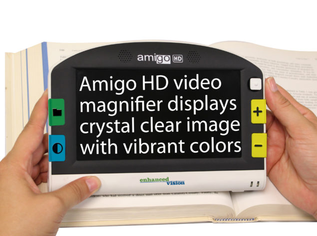 Amigo HD reading picture white background