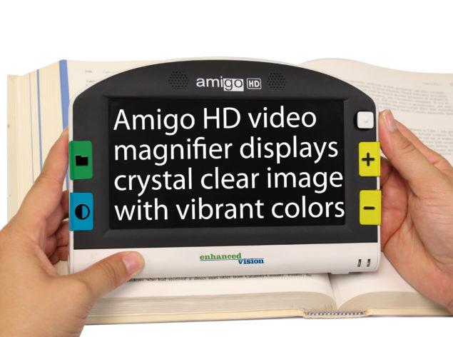 Amigo HD reading picture white background