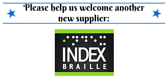 New Supplier:  Index