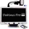 DaVinci Pro is a high performance desktop video magnifier (CCTV), featuring a Full HD Sony 1080p 3-in-1 camera and Full Page Text-to-Speech (OCR).
