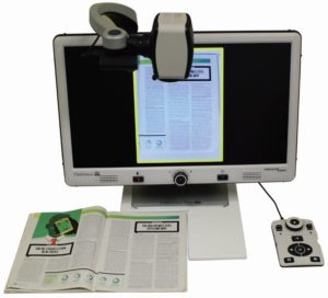 DaVinci Pro HD OCR Desktop Video Magnifier With Split Screen