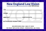 New England Low Vision & Blindness Gift Certificate