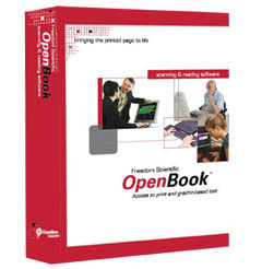 OpenBook converts printed documents or graphic-based text into an electronic text format on your PC, reading it aloud with quality speech and the latest in accurate optical character recognition (OCR). OpenBook utilizes both Nuance OmniPage and ABBYY FineReader OCR engines to bring you the most accurate text recognition available.