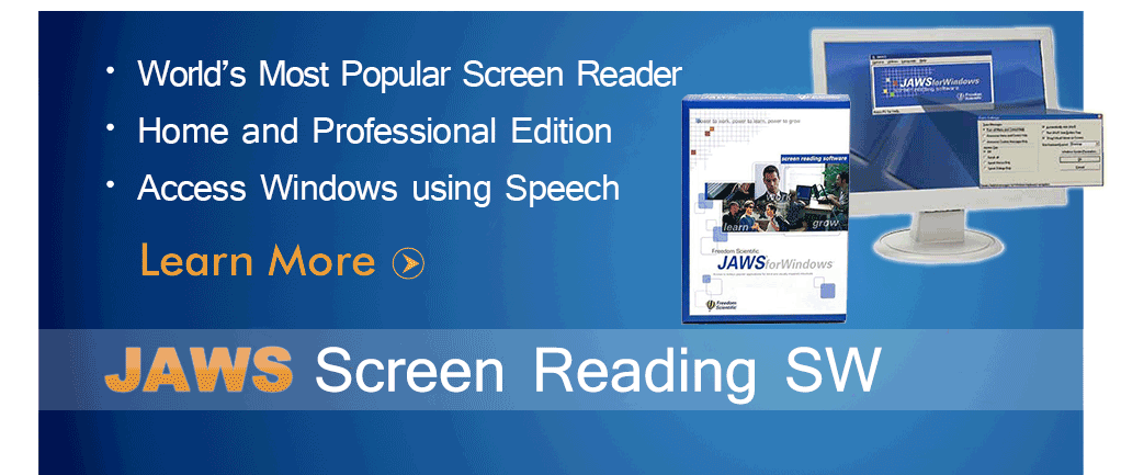 JAWS Screen Reading Software