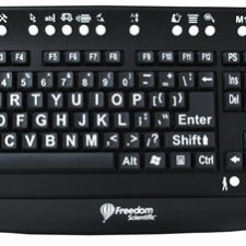 MAGic Large Print Keyboard - White Print on Black Keys