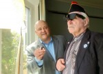New England Low Vision President demonstrates NuEyes to Veteran with vision loss