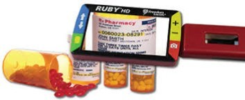 Ruby 7 HD Viewing prescription bottle