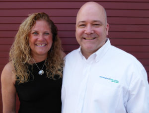 New England Low Vision and Blindness President Scott Krug with Dr. Kara Gagnon