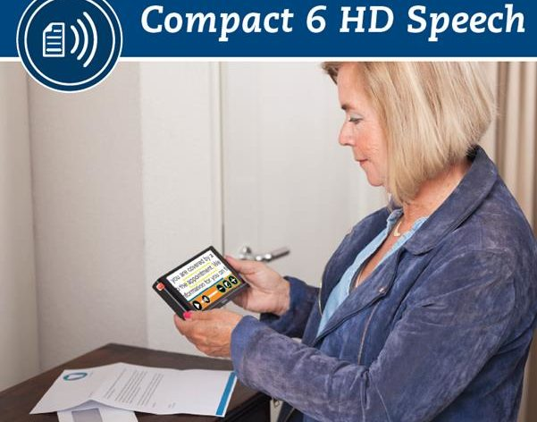 Compact 6 HD Speech - Lady reading document