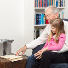 ClearReader Listening with grandchild