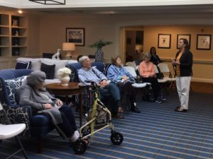 David Keeler and Tracy Andrews presenting at Maplewood Assisted Living Communities