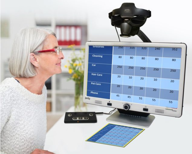 Jordy Low Vision Glasses Docking Stand