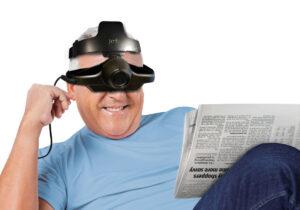 Jordy Low Vision Glasses - 4hr Battery in Black