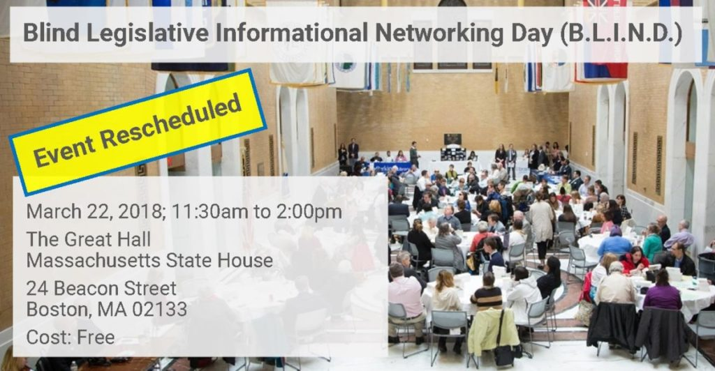 Blind Legislative Informational Networking Day (B.L.I.N.D.) 2018 Announcements News