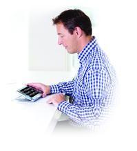 Compact 7 HD man using device