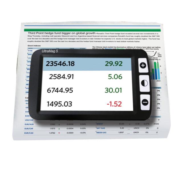 UltraMag 5 viewing stock marketing information