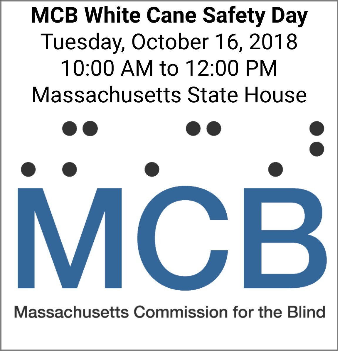 Massachusetts Commission For The Blind Invites You To