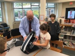 Scott Krug presents the latest technology to the Pittsfield Public School Education News Technology Top Choices