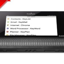 Top angle main menu of BrailleNote Touch Plus