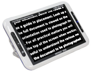 """Patriot 10"""" HD Portable Electronic Video Magnifier"""