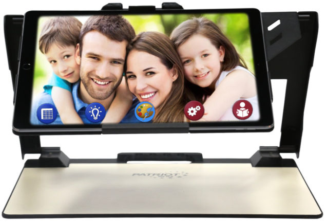 Patriot Pro image of family on screen