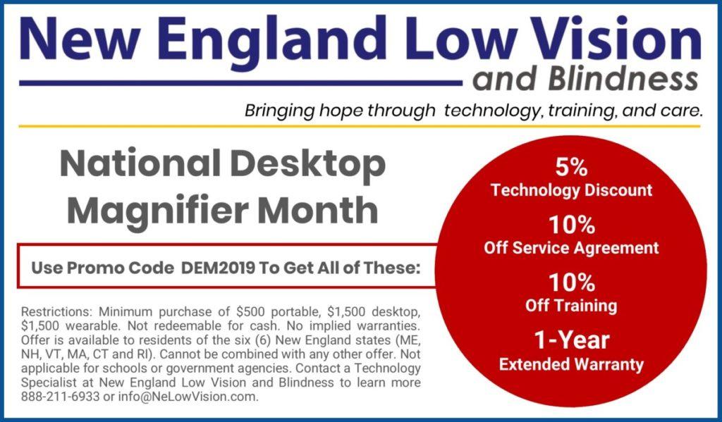 National Desktop Video Magnifier Month Announcements News