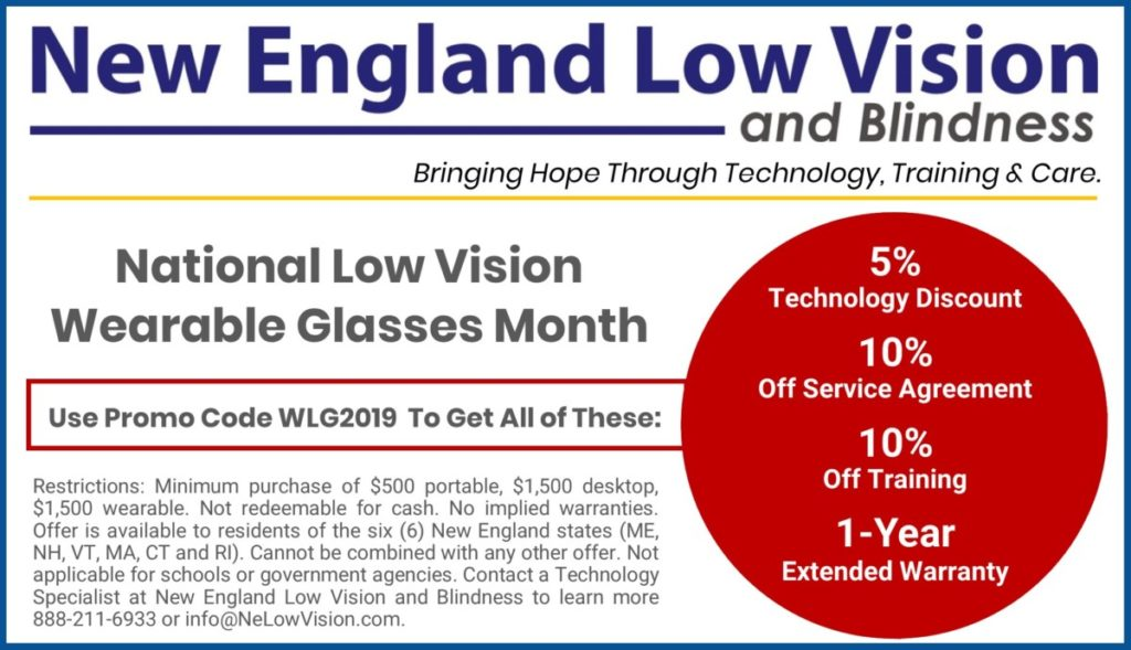 National Low Vision Wearable Glasses Month News Resources