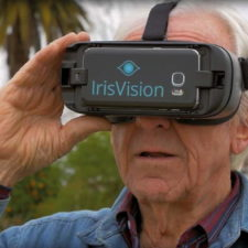 Person wearing IrisVision
