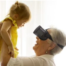 Acesight VR Person holding young child