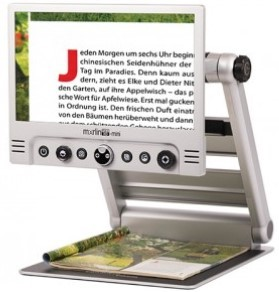 Merlin Mini - magazine on base and magnified on screen