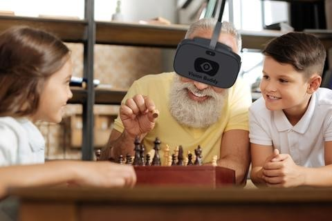 Vision Buddy Low Vision Wearable Glasses