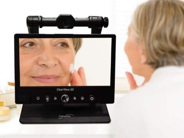 """ClearView GO 17"""" - Lady applying makeup"""