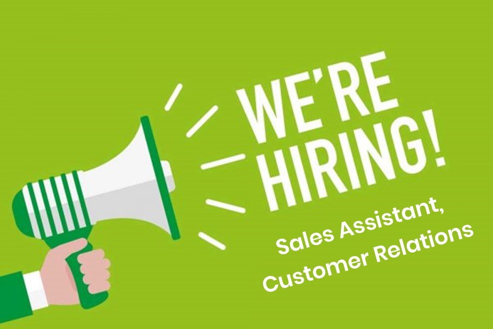 Open Position - Sales & Operations Assistant Open Positions