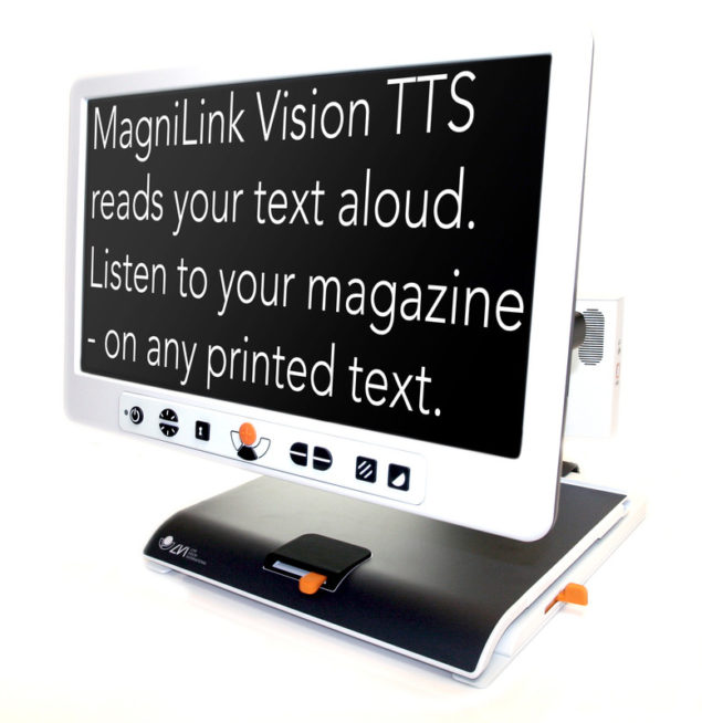 MagniLink Vision TTS-text on screen