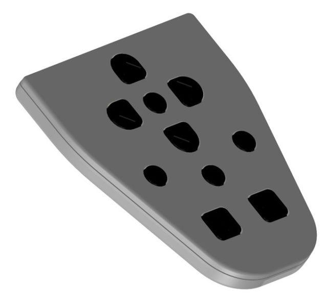 Keypad side view